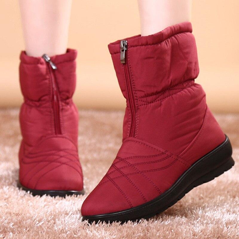 GTIME Plus Size Waterproof Flexible Cube Woman Boots High Quality Cozy Warm Fur Inside Snow Boots Winter Shoes Woman WXG3<br><br>Aliexpress