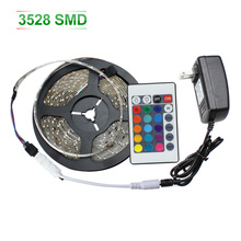 RGB LED Strip Waterproof 3528 SMD5m 60LEDs/m Flexible Strips Ligth Super Bright LED String Tapes Lamp 12V Christmas Lights(China)