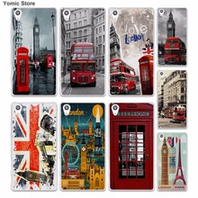 style london bus england telephone vintage british (1) skin hard White phone case cover for Sony Xperia z5 z4 z3 z2 z1 M5 M4 Aqu(China)