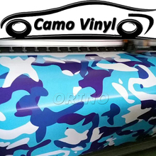 Fashion Car Styling Urban Camo Vinyl Wrap Blue Camouflage Film Sticker Air Bubble Free Auto Motorcycle Vehicle Wraps Covers