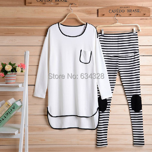 Maternity Top + Pant Set Maternity Clothing Autumn 2017 Plus Size Loose Sports Casual Clothes For Pregnant Women<br>