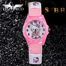 Hello Kitty Cute Children Watches Cartoon Straps Baby Clocks Girls Boy Multicolor Enfant Ceasuir Pupil Dress Saats Superman Hour