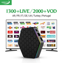 Europe Arabic French IPTV Channels IT DE UK T95Zplus Android 6.0 Smart TV Box QHDTV Subscription Canal Plus French IPTV Top Box
