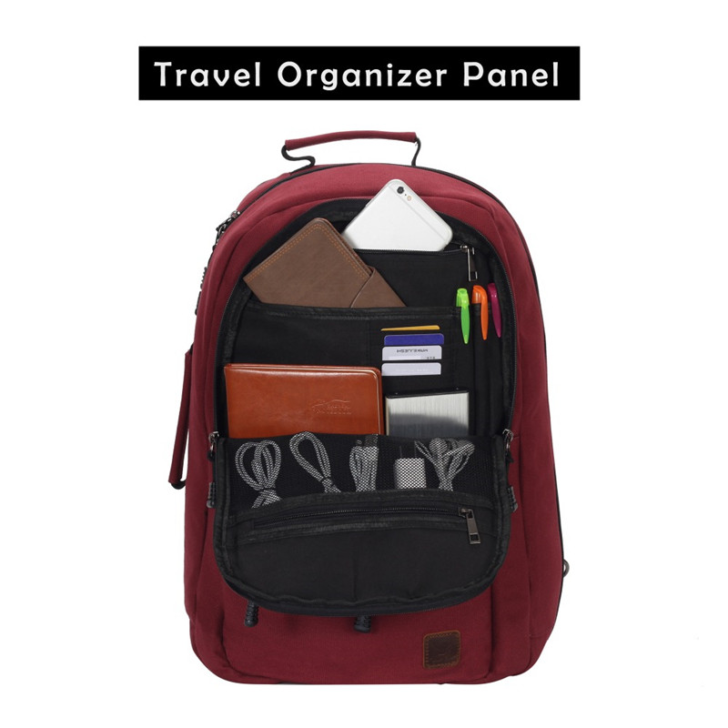 VEEVANV Fashion Carry on Luggage Vintage Men Travel Backpacks Canvas Convertible Backpacks Clothes Storage Bags Laptop Backpacks