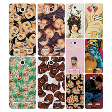 Colorful Painted Cartoon Grid Phone Case Cover For Huawei Honor 2 U9508 U8950D Ascend G600 Funda Capa For Huawei U9508 free gift