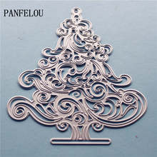 PANFELOU Metal craft Romantic decorated trees paper die cutting dies for Scrapbooking/DIY Christmas wedding Halloween cards(China)