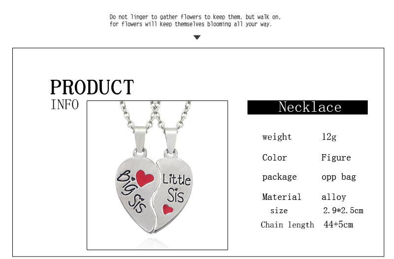 Silver Heart-Shaped Family Necklaces For 2