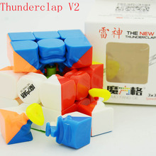 QiYi Thunderclap Black 3Layer Mofangge Qiyi 5.7cm 3layer Thunderclap V2 Stickerless QiYi Valk 3 Black Magic Cube(China)