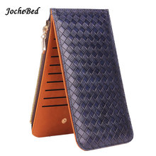 Jochebed New Long Knitting Female Wallets Candy Color Luxury Brand Car Holder Purse Girl Dollar Price Wallet Women Coin Purse