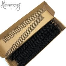 100 Rows Wholesale Price Korea imported High Quality Steel Wire Comb Wig AccessoriesHair Extension Tools Spring Combs