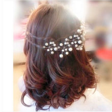 LNRRABC 2pcs Women Clear Zinc Alloy Wedding Bridal Bridesmaid Simulated Pearl Hair Pins Clips Flower Type U DesignComb Headband