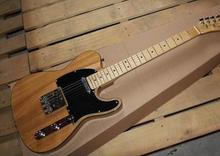 Free Shipping top quality factory custom 100% new F telecaster Nature wood body color Electric Guitar Standard tele Guitar