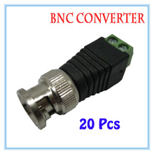 20 pieces BNC CCTV Video Balun passive Transceiver Male Adapter For CCTV IP Camera Power Supply Surveillance Accessories(China)