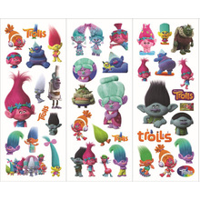 12sheets/lot Trolls Stickers Dreamwork New Movie Small Stickers for Children Stickers