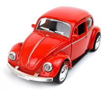 Classic Car Model As Die Cast Material Scale Of 1:36 Length 12Cm Old FaShion Beetle Car Becautiful Vehicles