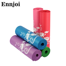 ENNJOI Hot Sale 183*61cm Thickness 10mm New Flowers Printed Yoga Mat Nonslip Beautiful Yoga Mat Thickening Tasteless Yoga Mat(China)