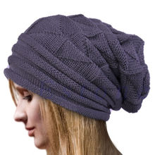 Men Women Knit Oversize Baggy Slouchy Beanie Warm Winter Hat Ski Chic Cap Skull