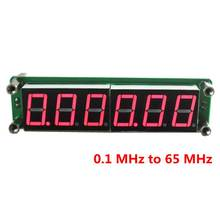 0.1MHz~65MHz Digital Frequency Meter Counter Tester Cymometer Red LED 6 Digits High Bright