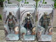 Neca action figure assassins creed 4  black flag PVC kid toys 6 inch action figure toys for boy gifts  Free shipping