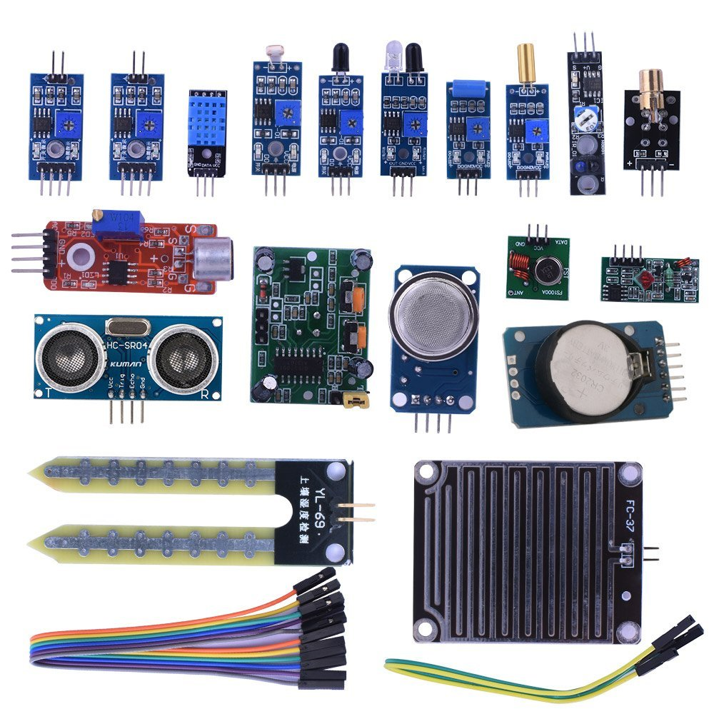 Miroad 16 in 1 Modules Sensor Kit Project Super Starter Kits for Arduino UNO R3 Mega2560 Mega328 Nano Raspberry Pi 3 2 K62<br>
