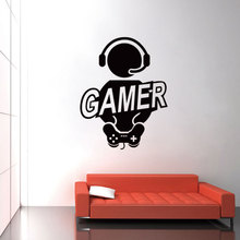 Brand 2017 Wall Sticker Decal children room Gaming Gamer Joystick Video Computer Game Home Decor Wallpaper Wall Stickers DIY