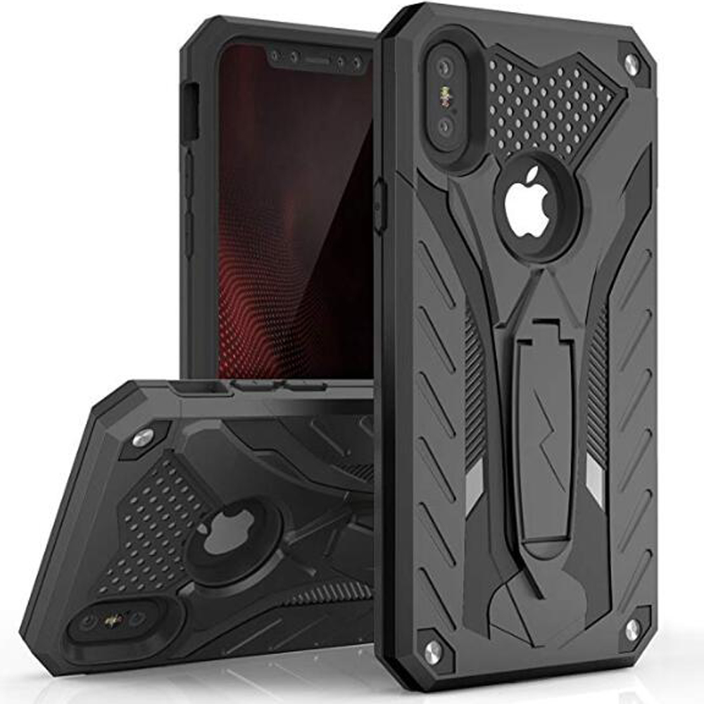 Case For iPhone 7 8 Shockproof Military Drop Tested Silicon Case For iPhone 6 6s Plus X 5 5s SE Kickstand TPU Cover Coque Shell(China)