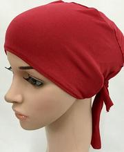6pcs/lot solid color simple plain islamic hat muslim underscarf hijab inner caps