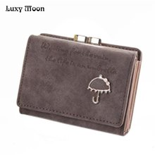 Luxy Moon Clutch Wallets 3 Fold Brand Coin Purse Card Holder Mini Fashion PU Leather Wome's Purse Hasp Clutch Wallet ZD457(China)