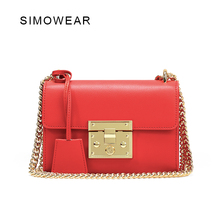 Buy 2016 Hot Sale Luxury Brand Design Women Genuine Leather Small Bag Real Cowskin Shoulder Messenger Bag Padlock Petite Handbag for $41.50 in AliExpress store