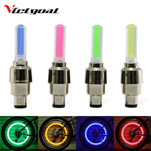 VICTGOAL Bike Light Mountain Road Bicycle Tyre Tire Valve Caps Lights MTB Spokes LED Wheel Cycling Accessories Light N1012