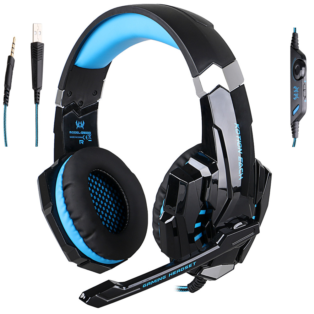 EACH G2000 Pro Game Gaming Headset 3.5mm LED Stereo PC Headphone Microphone Stereo Bass LED Light<br><br>Aliexpress