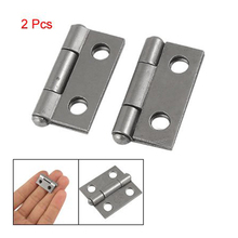 "NFLC 2 Pcs  25 x 20x 5mm/ 1"" x 0.8"" Gray Metal 1"" Small Butt Hinge for Cabinet Drawer"
