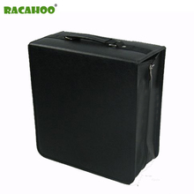 RACAHOO High Capacity Leather Business CD Box Thickening DVD Bag Carry Case Organizer Cover For Home Or Car Storage 400pcs CD(China)