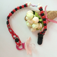 New Baby Pacifier Clip Pacifier Chain Hand Made Funny Colourful Beads Dummy Clip Baby Soother Holder For Baby Kid F20