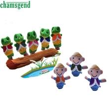 8Pcs The Boy And Frogs Storytelling Good Toys Hand Puppet for Baby's Gift SEP 30(China)