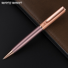 High quality MONTE MOUNT rose pink and rose gold financial Ballpoint Pen Special pen Multi-color with gift school office supplie(China)