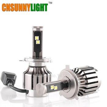 Todo En Uno H4 Hi/Lo LED Linterna Del Coche w/Virutas Del Cree 80 W 8000LM 6000 K DRL Niebla Del Coche la Cabeza de Conversión de Luz de Lastre N Play y enchufe