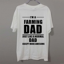 I'M A FARMING DAD Farmer Tractor Farm Awesome Humour funny T-shirt Adult PRINTED T SHIRT Birthday TShirt Tee Unisex