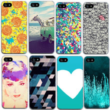 2017 New Hot Flower Giraffe Soft Silicon Transparent Case Cover For iPhone 5 5S SE Phone Case Capa Fundas(China)