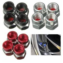 4x Aluminum Tire Tyre Wheel Pressure Valve Stem Caps Tire Screw Dust Cover Car Truck Motocycle Bicycle