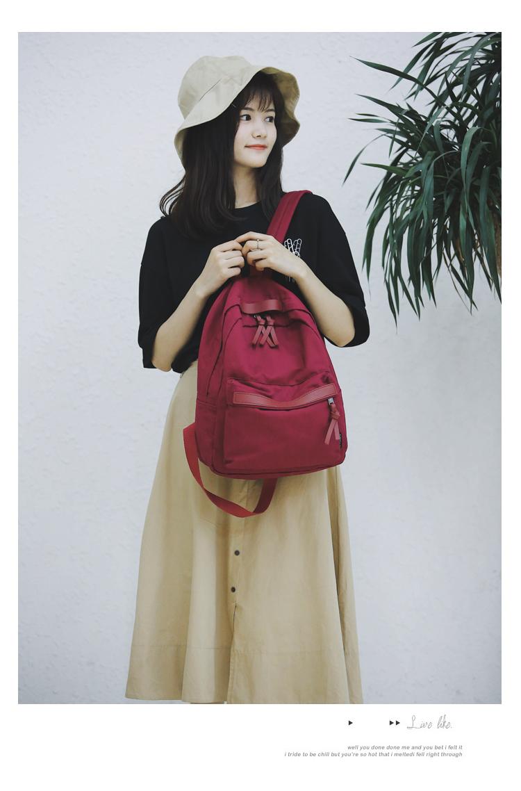 Menghuo High Quality Women Canvas Backpack Teenage Girls Leisure Backpack Bag Vintage Stylish Female School Bag Bookbag Mochilas (12)
