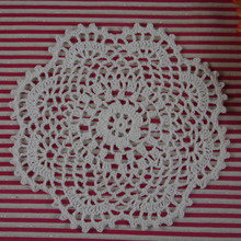 "custom made Round Crochet Doily pattern 7""18CM handmade Crochet cup mat 20PCS home wedding table decorations"