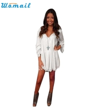 2016 New Fashion Women Ladies Casual Loose Crochet T Shirt Sexy Lace Long Sleeve Cotton Tee Shirt Femme Tops Au30