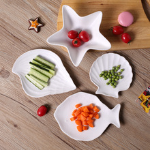 Fresh Ocean Series Ceramic Cutlery Creative Home Combination Breakfast Bowl Western Food Plate Small Fruit Saucer Dish Tableware(China)