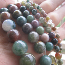 Best Selling 4mm 6mm 8mm10mm 12mm natural mixed color gravel India stone Beads India Agate for  DIY Jewelry making