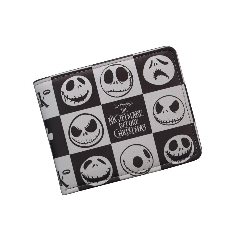 Comics THE NIGHTMARE BEFORE CHRISTMAS Wallet Women &amp; Mens Thriller Movie Cartoon Wallet Short Skull Jack Wallet ID Card Holder<br><br>Aliexpress