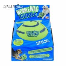 Hot Popular Interesting Ecofriendly Wobble Wag Giggle Ball Dog Cats Play Training Pets Sound Ball(China)