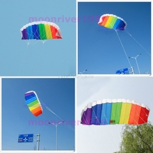 Rainbow Sports Beach Kite Power Dual Line Stunt Parafoil Parachute For Beginner A5291 #H055#