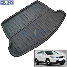 FIT FOR NISSAN QASHQAI J11 2014 2015 2016 2017 BOOT MAT REAR TRUNK BOOT LINER CARGO FLOOR TRAY CARPET MUD KICK PROTECTOR(China)