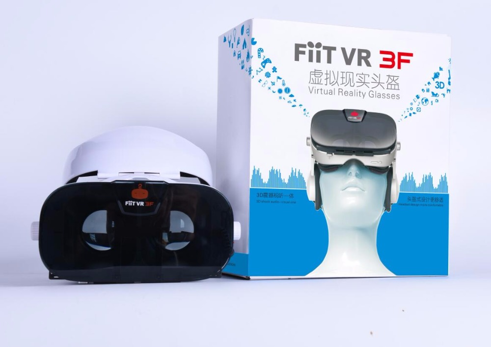 Fiit VR 3F Stereo Video 3D Glasses VR Headset Virtual Reality Smartphone Google Cardboard Helmet vrbox For 4inch to 6.4″ Phones